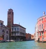 De mening van Venetië van de gondel Royalty-vrije Stock Foto's