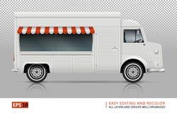 De Mening van de voedselvrachtwagen van rechterkant Stock Afbeeldingen