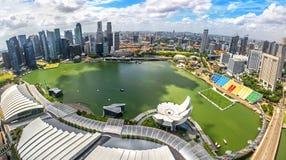 De mening van vogelogen van de Stadshorizon van Singapore royalty-vrije stock foto