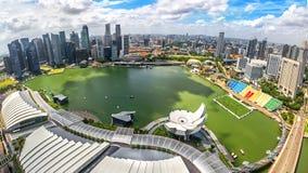 De mening van vogelogen van de Stadshorizon van Singapore in Singapore stock fotografie