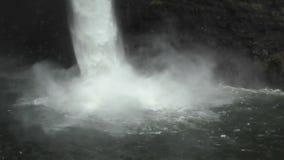 De mening van de watervalclose-up stock footage