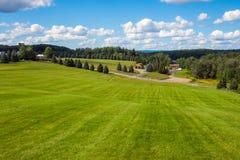 De Mening van Woodstock van de heuveltop Stock Fotografie