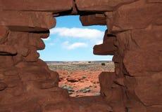 De mening van Wukoki Pueblo in Wupatki Royalty-vrije Stock Afbeeldingen