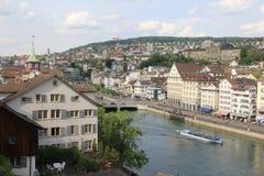 De Mening van Zürich Ciy Royalty-vrije Stock Afbeelding