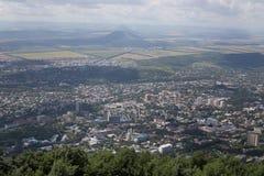 De mening vanaf de bovenkant van de berg Stock Afbeelding