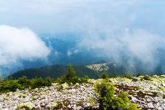 De mening vanaf de bovenkant van de berg Stock Fotografie
