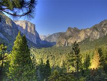 De Mening Yosemite van de tunnel Royalty-vrije Stock Foto's