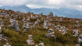 De Meningen en Trekking Czerwone Wierchy van Tatrybergen Royalty-vrije Stock Foto's