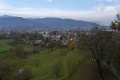 De meningen van Bergamo Italië royalty-vrije stock afbeeldingen