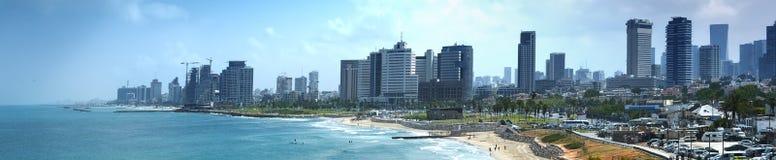 De meningen van de waterkant van Tel Aviv stock foto