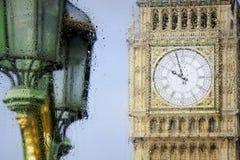 De meningen van Londen door het glas Royalty-vrije Stock Foto