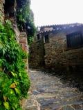 De meningen van Patones DE Arriba, Madrid, Spanje stock afbeeldingen