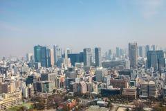 De meningscityscape van Tokyo | Het Aziatische landschap van de de reismetropool van Japan op 30 Maart, 2017 Stock Foto's