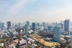 De meningscityscape van Tokyo | Het Aziatische landschap van de de reismetropool van Japan op 30 Maart, 2017 Royalty-vrije Stock Fotografie