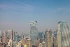 De meningscityscape van Tokyo | Het Aziatische landschap van de de reismetropool van Japan op 30 Maart, 2017 Stock Afbeelding