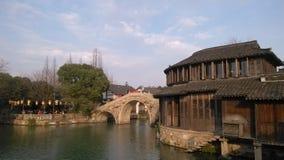 De de meningswinter China van Wuzhenwatertown stock foto
