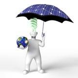 De mens bewaart de planeet Vector Illustratie