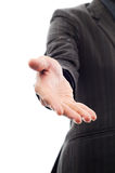 De mens breidde hand tot schok uit Stock Afbeeldingen