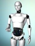 De mens die van de robot u uitnodigt. Royalty-vrije Stock Afbeeldingen
