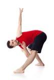 De mens is een acrobaat Royalty-vrije Stock Foto