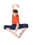 De mens is een acrobaat Stock Fotografie