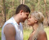 De mens en het meisje van de liefde Royalty-vrije Stock Afbeeldingen