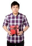 De mens geeft gift Royalty-vrije Stock Foto's