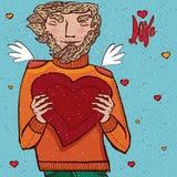 De mens houdt hart Royalty-vrije Stock Fotografie
