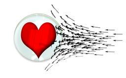 De mens houdt voor hart Stock Fotografie