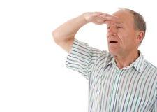 De mens kijkt Royalty-vrije Stock Afbeelding