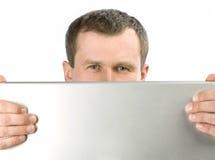 De mens kijkt Stock Fotografie