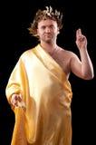 De mens kleedde zich in Griekse god Stock Afbeeldingen