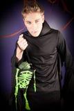 De mens kleedde zich voor Halloween Stock Foto