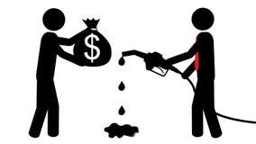 De mens koopt benzine vector illustratie