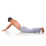De mens maakt yoga royalty-vrije stock fotografie