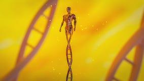 De mens maakte van DNA-concept CRISPR en gen het uitgeven concept, DNA-manipulatie, PCR eiwit moleculaire DNA royalty-vrije stock foto's