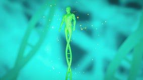 De mens maakte van DNA-concept CRISPR en gen het uitgeven concept, DNA-manipulatie, PCR eiwit moleculaire DNA stock fotografie