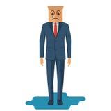 De mens schreeuwt Zakenman in kostuum vector illustratie