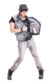 De mens stijgt zijn vest op Royalty-vrije Stock Foto