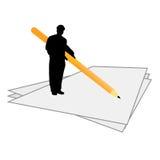 De mens tekent vectorontwerp in Royalty-vrije Stock Fotografie