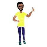 De mens toont hand met duim op colorized42 Royalty-vrije Stock Foto's