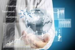 De mens toont sociaal netwerk Royalty-vrije Stock Afbeelding