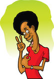De Mens van Afro Stock Afbeeldingen