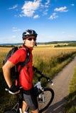 De mens van Biking Royalty-vrije Stock Afbeeldingen