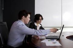 De mens van Businessteam het werken Stock Foto