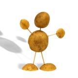 De mens van de aardappel Stock Foto
