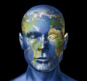 De mens van de aarde Stock Afbeeldingen