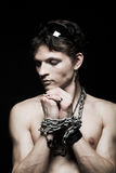 De mens van de amulet Stock Fotografie