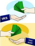 De mens van de belasting royalty-vrije illustratie