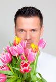 De mens van de bloem Stock Fotografie